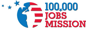 logo for 100,000 jobs mission