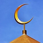 Golden Crescent symbol of Islam