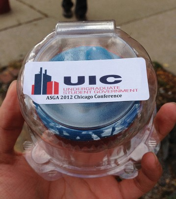 A cupcake witha USG label