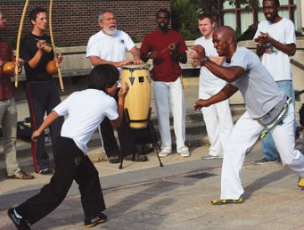 Capoeira Batizado, the Brazilian martial arts form