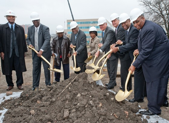 Dignitaries at the Mile Square groundbreaking ceremony