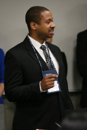 Arthur Anderson, student in UIC's Liautaud Graduate School of Business, makes a presentation at the 2012 Concept2Venture Business Plan Competition.