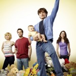 """Raising Hope"" cast, with Lucas Neff"