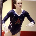 Catherine Dion on the parallel bars
