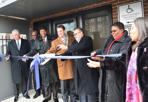 Brighton Park health center ribbon cutting