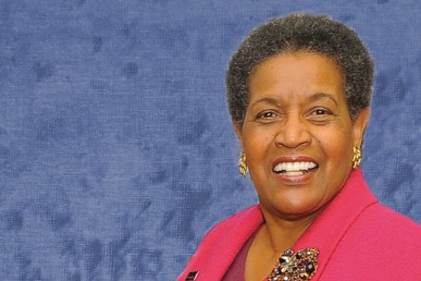 Myrlie Evers, civil rights leader and widow of slain civil rights activist Medgar Evers