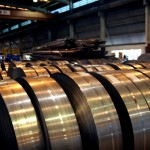 rolls of metal sheeting