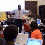 Alfred Tatum teaching a group of students