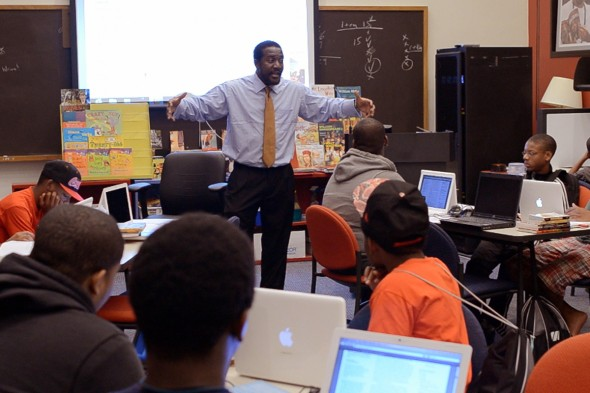 Alfred Tatum teaches at the African American Adolescent Male Summer Institute