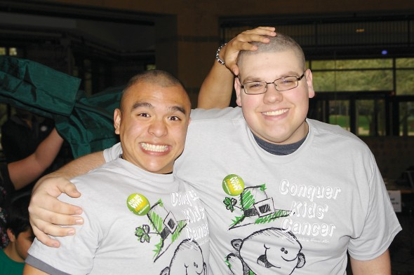 Two St. Baldrick's Participants