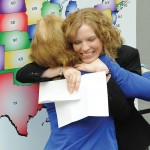 Kandace Walker hugs her mother after learning her placement
