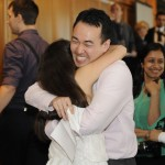 students hugging after getting their med school matches