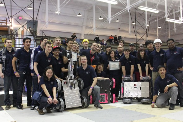 College of Engineering students in robot competition