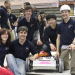 College of Engineering students with Richard, winning robot
