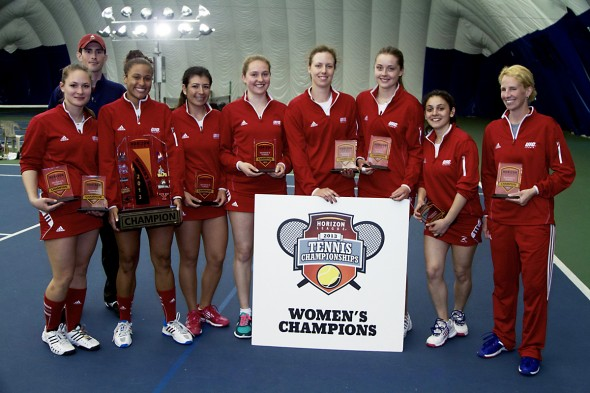 Women's Tennis team and coaches