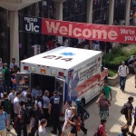 EMS students show off UIC EMS's new ambulance