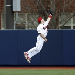Ryan Boss leaps in the air to make a catch