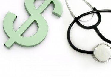 Dollar sign and stethescope