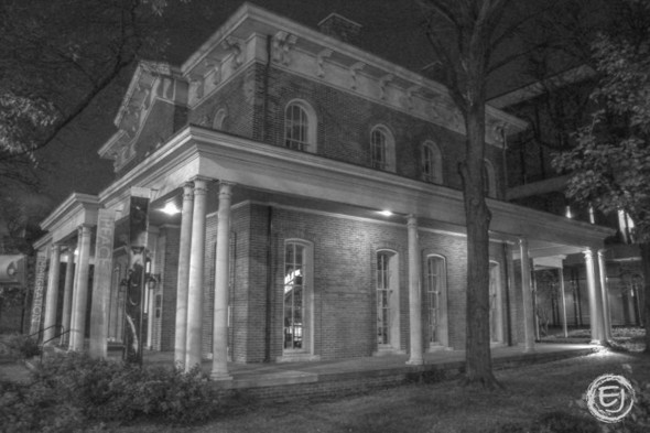 Photo-illustration of Hull-House Museum