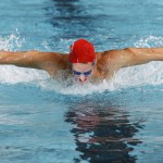 swimmer doing the fly