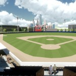 Architect's sketch, Curtis Granderson Stadium