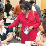 Chancellor Paula Allen-Meares speaks with students