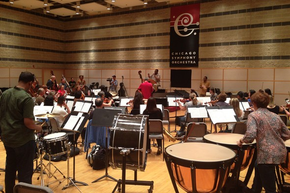 Chicago Symphony Orchestra rehearsing
