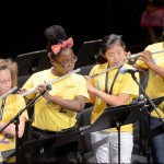 Jazz camp students playing flutes
