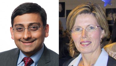 Jerry Krishnan and Denise Hynes