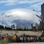 """Cloud Gate"" in Chicago's Millennium Park."