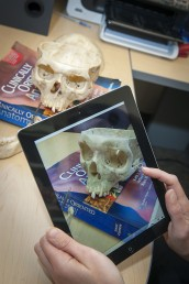 Alison Doubleday taking photo with iPad for anatomy app