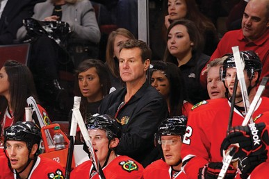 Blackhawks trainer Mike Gapski