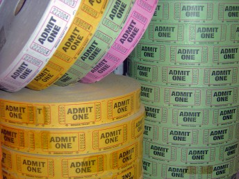 Rolls of admission tickets