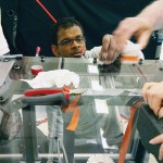 Suman Sinha Ray prepares for the zero and double-gravity experiments
