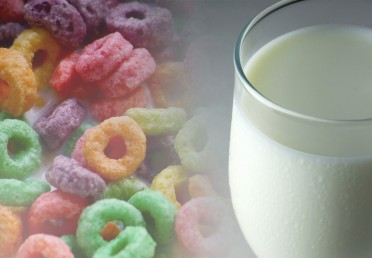 cereal and a glass of milk