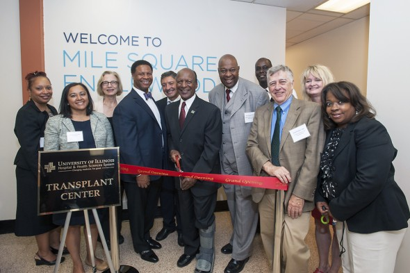 Ribbon Cutting at Mile Square Englewood Organ Transplant Clinic