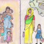 Illustrations from a book about family planning