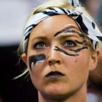 Alli Alberts with face paint