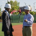 Curtis Granderson and Coach Mike Dee
