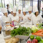Contestants view their ingredients