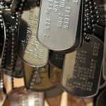 military dog tags hanging