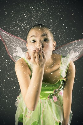 Jenny Sum as Tinkerbell in student project reimagining Disney princesses