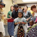 Pediatrics patients dressed up for Halloween