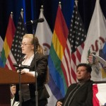 Jennifer Geiman speaks at the signing of the Marriage Equality Bill