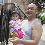 Man holding his infant daughter