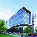 Rendering of the new Mile Square Health Center on Wood Street