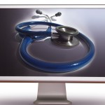 stethoscope on a computer streen