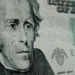 close up of a $20 bill