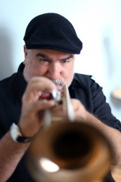 Randy Brecker playing trumpet