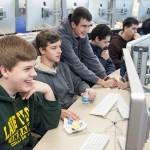 Students in Lane Tech computer science class